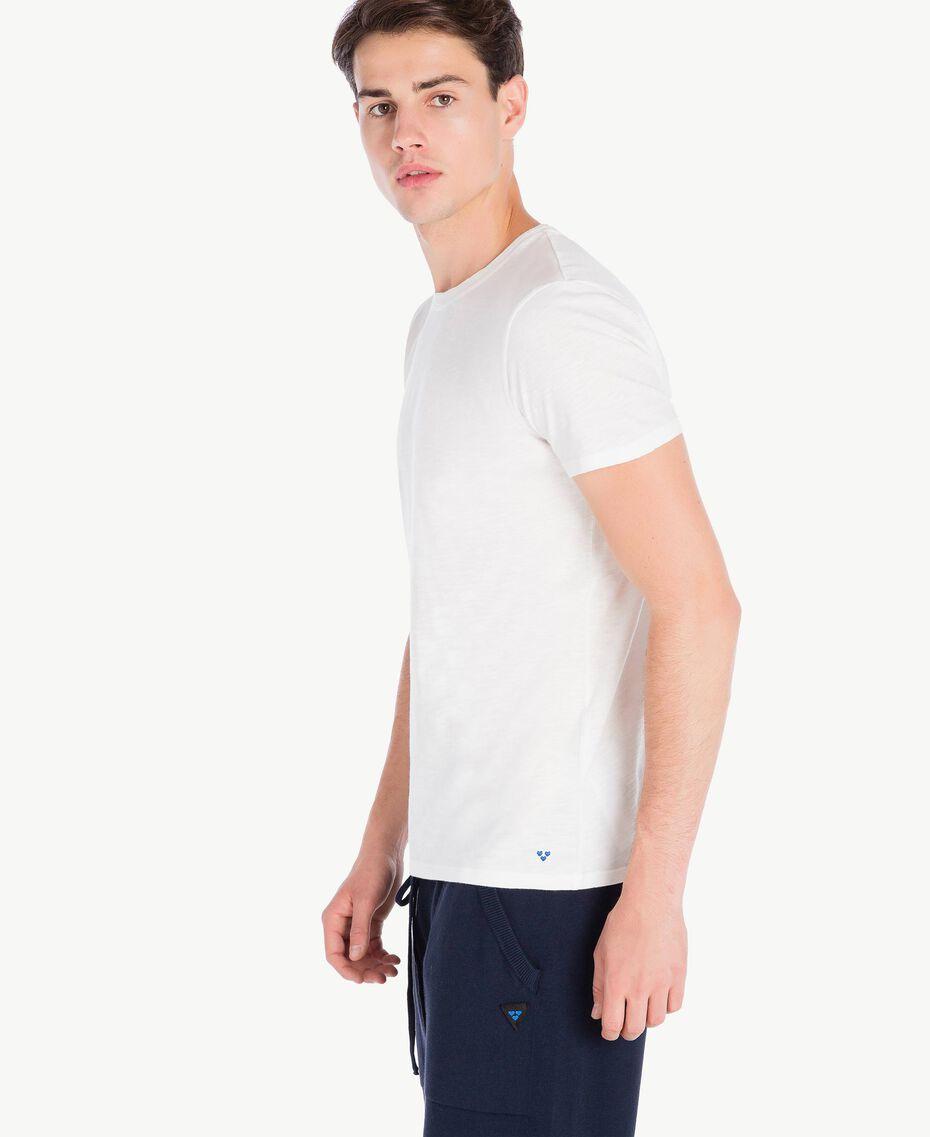 T-Shirt aus Baumwolle Weiß Männlich UA72FA-02