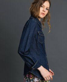Chemise en jean avec broches style militaire Bleu Denim Femme 192MP2342-02