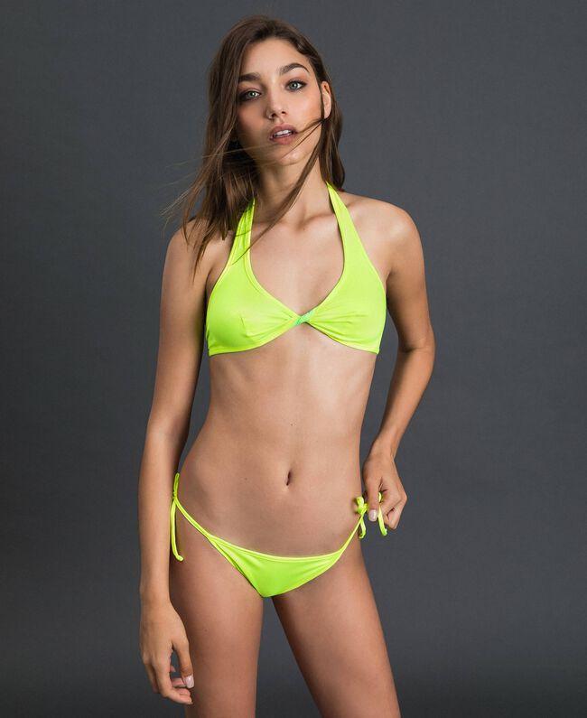 Reversible bikini Fluorescent Green / Fluorescent Yellow Woman 191TQM023-04