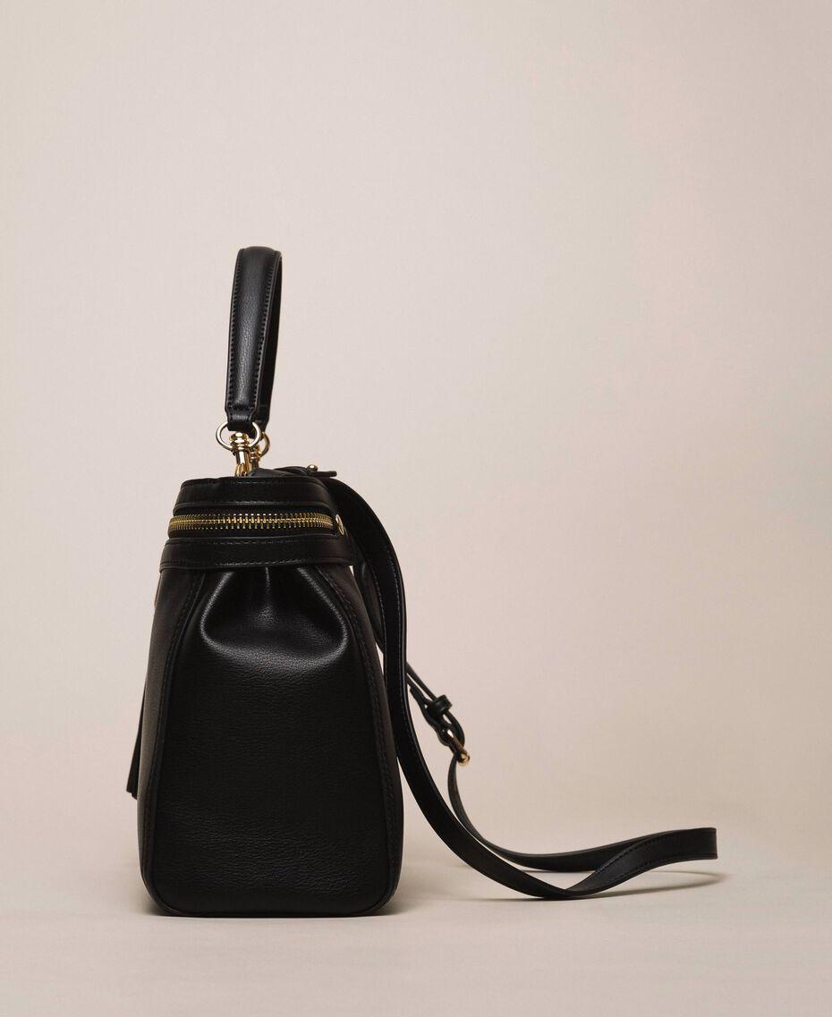 Large faux leather New Cécile bag Nougat Beige Woman 201TO8180-03