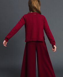 Cardigan mit Allovernieten Ruby Wine Rot Kind 192GJ3093-03