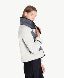 Jacke aus Schaffellimitat Grau Melange YA72A2-01