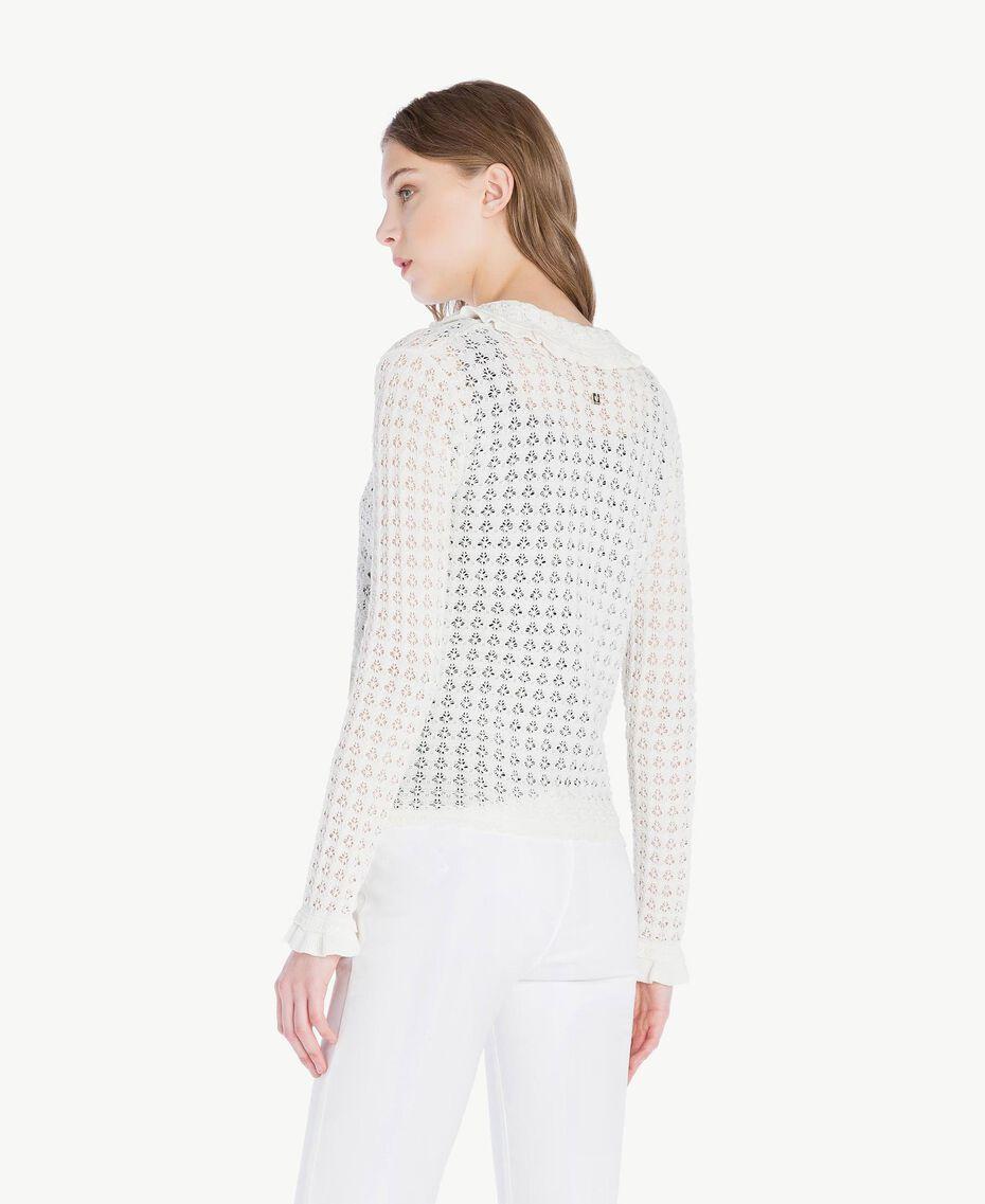 Cotton mandarin collar top Mother Of Pearl Woman TS83AQ-03