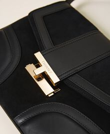 Smooth leather and suede bag Black Woman 202TB7281-03