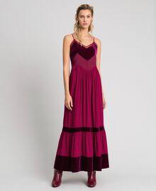 Robe nuisette avec détails en velours Rouge Velours Femme 192TT2280-01