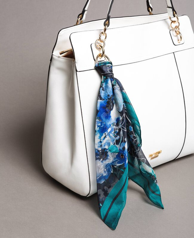 Faux leather hobo bag with scarf Off White Woman 191MO8102-01