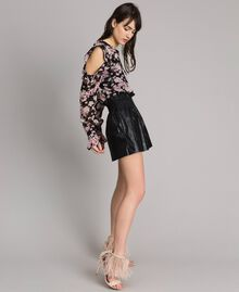 Shorts in similpelle Nero Donna 191TP2551-03