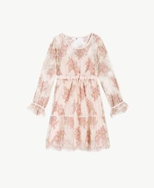 "Lace nightdress ""Dusty Cream"" Beige Lace Woman LS8FGG-01"