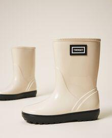 Rain boots with logo Creamy White Child 202GCJ100-03
