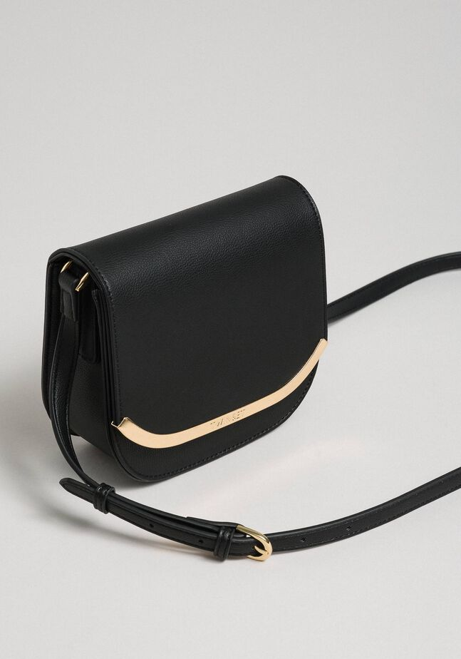 Faux leather small shoulder bag
