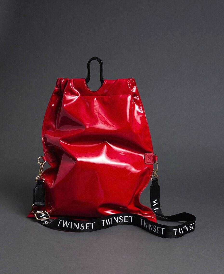 Большая складная сумка-шоппер из искусственной кожи Красный Гранат женщина 192TA7173-02