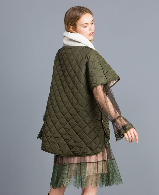 Quilted reversible padded jacket Forest Green Woman TA82B1-03