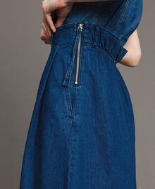 Jean à coupe large et taille haute Bleu Denim Femme 191MT2422-05