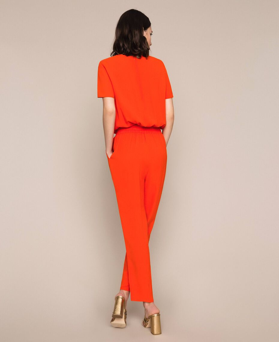 "Georgette jumpsuit ""Ace"" Orange Woman 201LL2NBB-03"