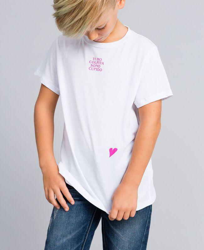 T-shirt unisex junior in cotone con stampa Bianco Bambina QA8TMP-05