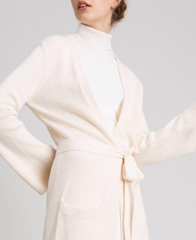 Maxi cardigan with belt Pale Peach Rose Woman 192LI32AA-04