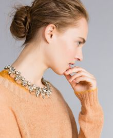Halsnahe Kette mit Chatons und Strass Camel Frau AA8P7X-0S