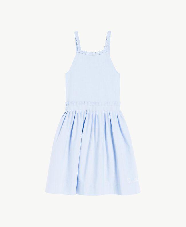 Ruched dress Infinite Light Blue Jacquard Child GS82QC-01
