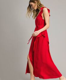 """Длинное платье с жаккардовыми бабочками и оборками """"Lipstick Red"""" Красный женщина 191TT2144-02"""