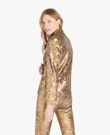 All over sequin jacket Gold Yellow Woman TS82EN-03