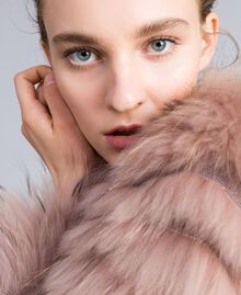 Long fur coat Light Pink Woman PA82LE-04