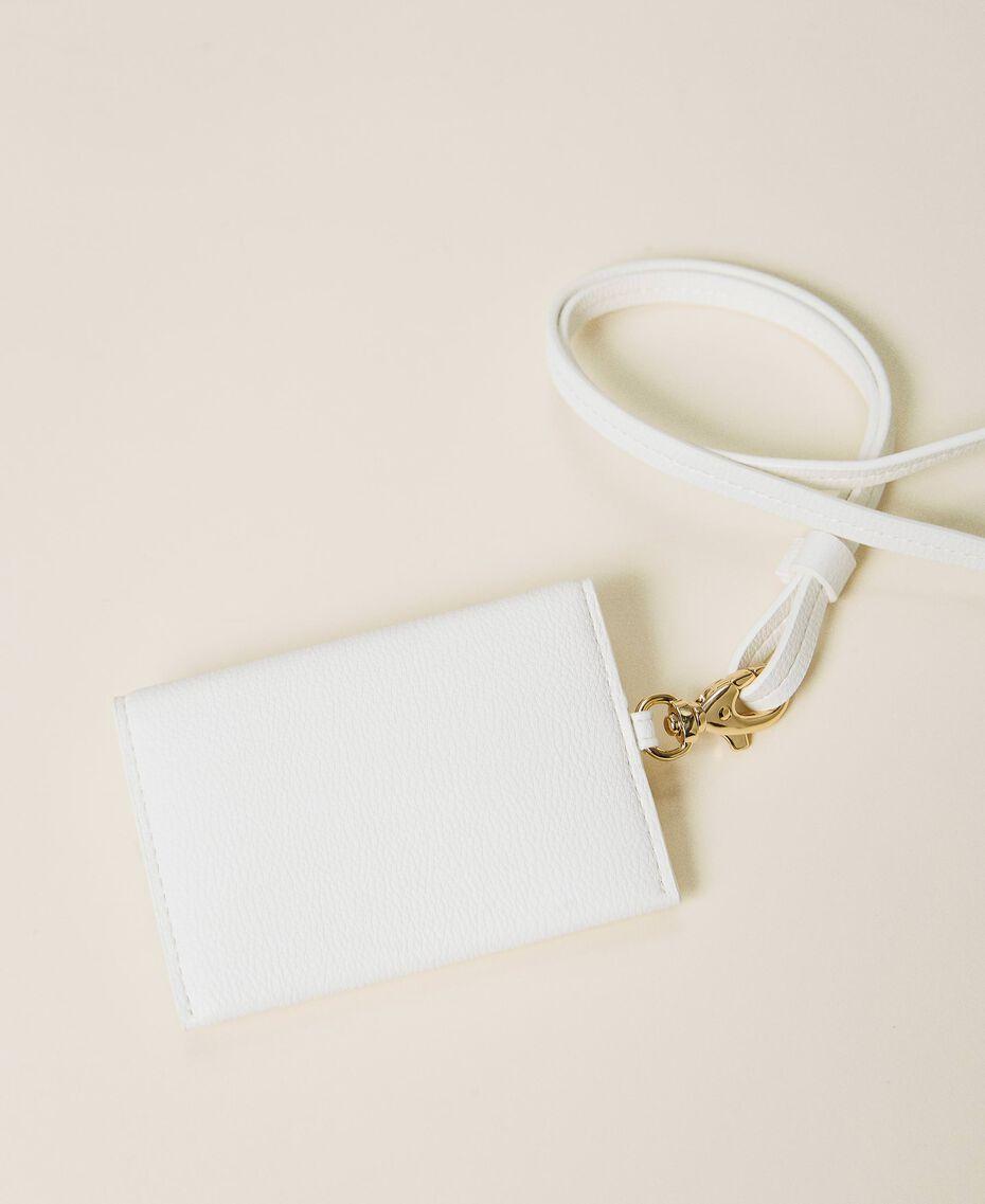 Pochette portacarte con logo Off White Donna 212TD8182-02