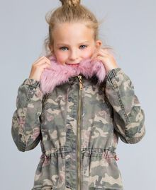 Parka in canvas stampato Stampa Camouflage Bambina GA82EA-0S