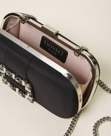 Clutch with jewel buckle and shoulder strap Black Woman 202TB7063-06