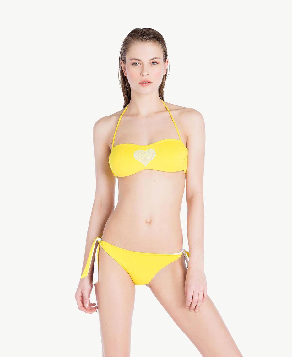 Soutien-gorge de bain bandeau strass Jaune Fizz Femme MS8M11-03