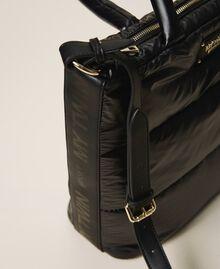 Стеганая сумка-шоппер с логотипом Черный женщина 202MO8021-05
