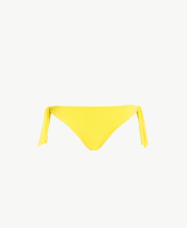Bikini-Tanga mit Schleifen Yellow Fizz Frau MS8A88-01