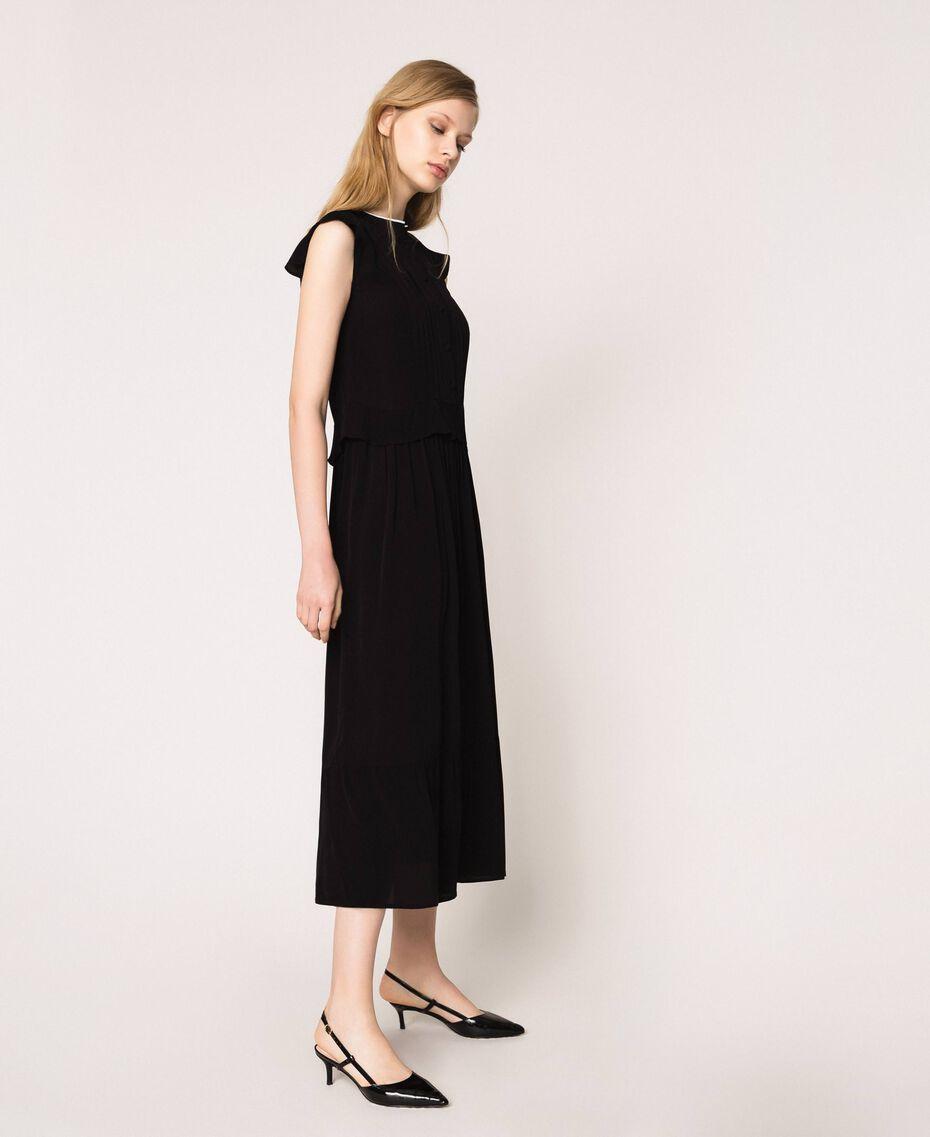 Crêpe de Chine long dress Black Woman 201TP2390-02