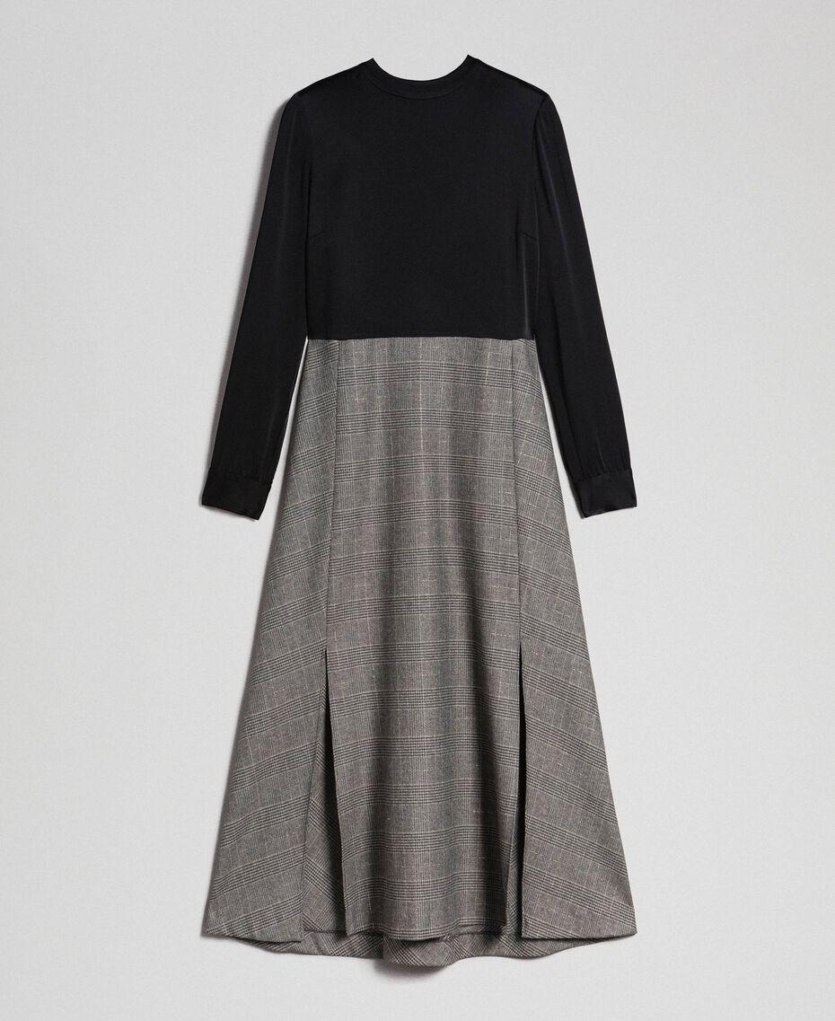 Cady and glen plaid dress Lurex Dark Grey Wales Design Woman 192TT2448-0S