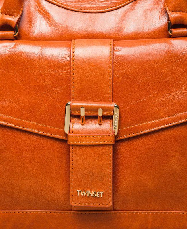 "Rebel leather shopper with pocket ""Jasper"" Red Woman 999TA7235-05"