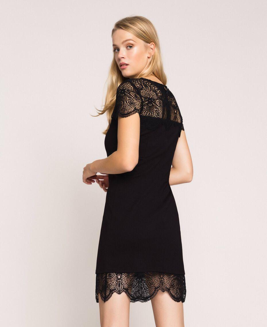 Lace sheath dress Black Woman 201TP212A-01