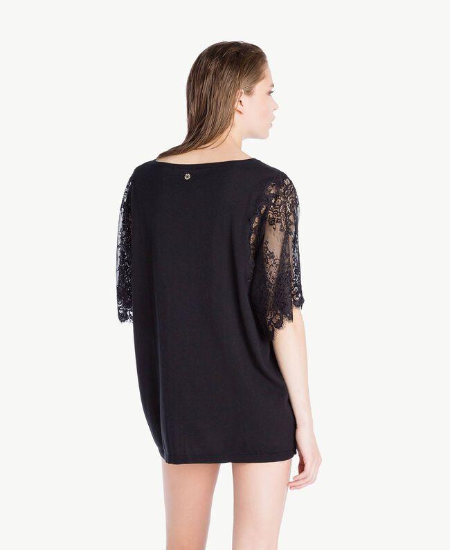 Maxi maglia cotone Nero Donna LS8CCC-04