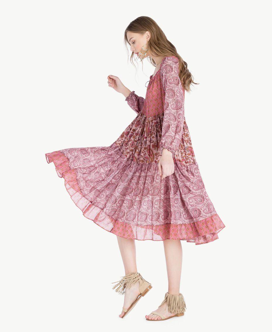 Robe imprimée Imprimé Mélangé Cachemire Femme TS82XB-02