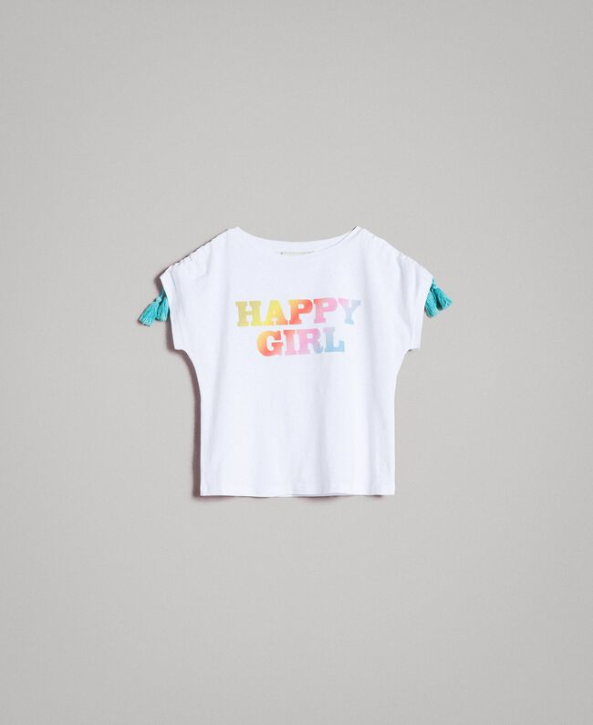Cotton T-shirt with print White Child 191GJ2772-01