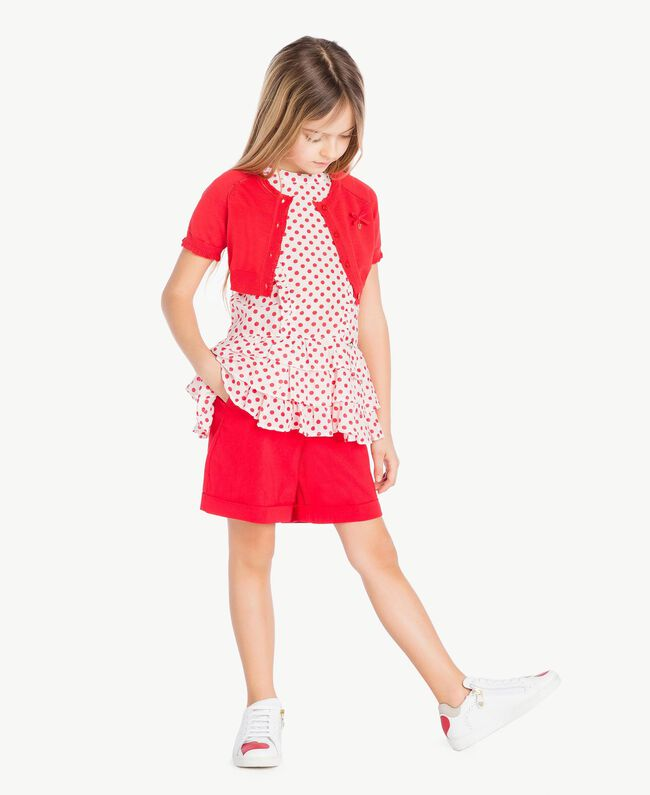 Cotton shorts Pomegranate Red Child GS82HN-05