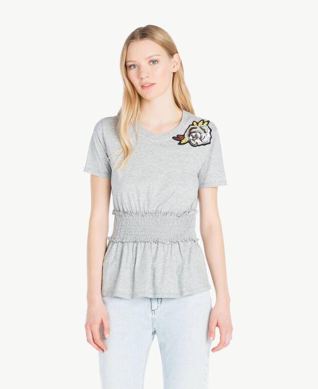 Sequined t-shirt Melange Grey Woman JS82RB-01