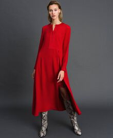 Midi dress with slip Venetian Red Woman 192TT229C-01