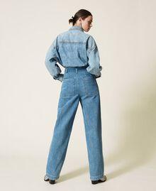 """Jeans 'Azurite' con cintura Blu """"Denim Medio"""" Donna 212AP238A-04"""