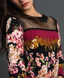 Abito con stampa foulard a fiori e pizzo Stampa Foulard Donna 192TP3361-05