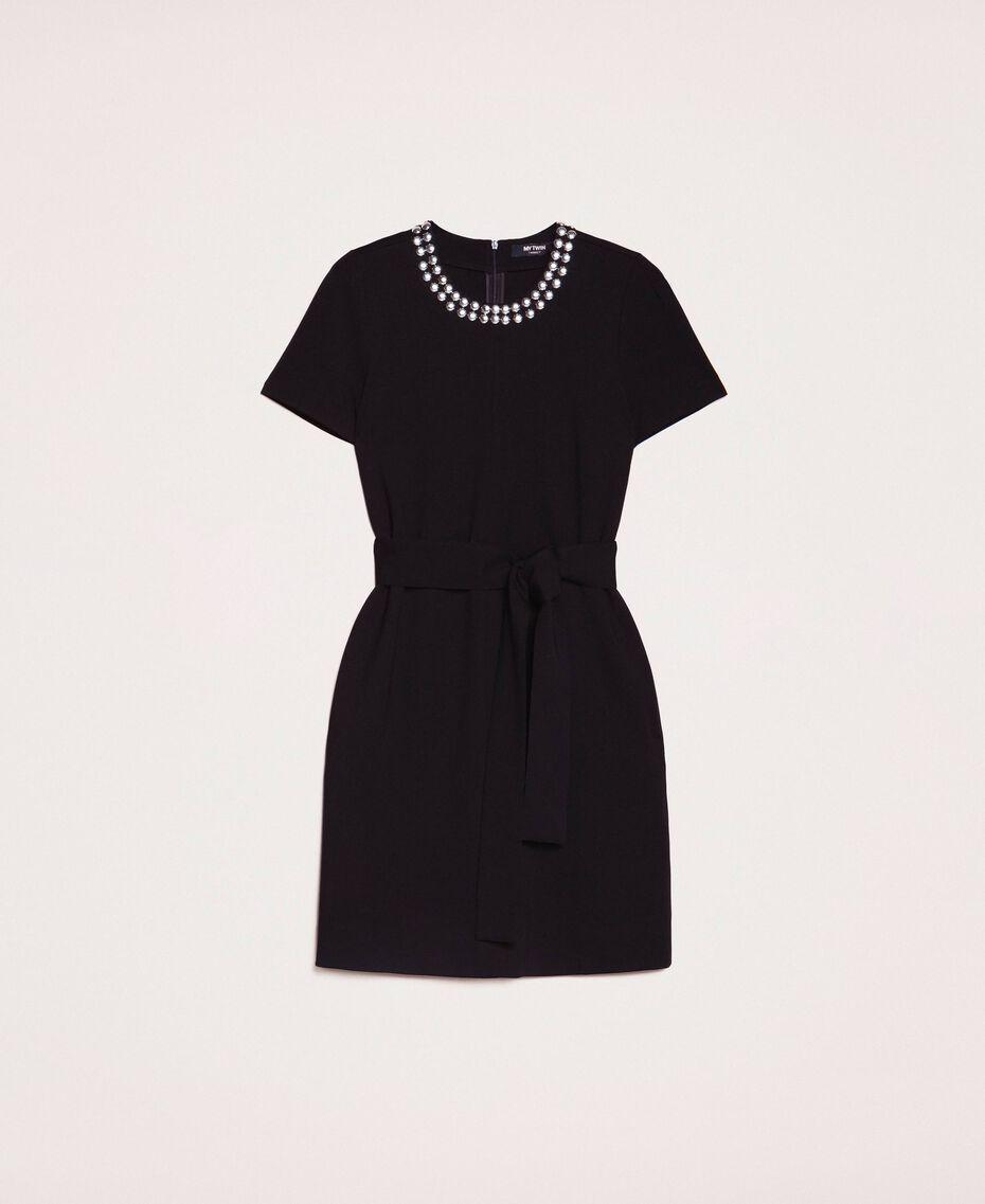 Dress with studs Black Woman 201MP2211-0S