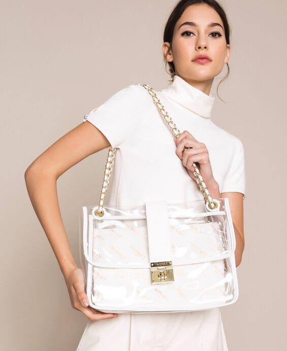 Large shoulder bag with pochette