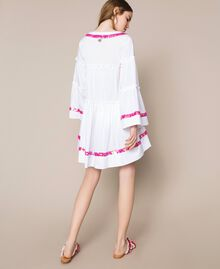 Kaftan with flounces and sequins White Woman 201LM2AQQ-03