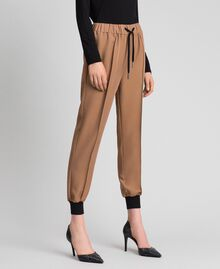 "Jogging trousers with elastic and drawstring ""Sequoia"" Beige Woman 192ST2203-02"