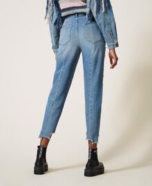 Regular jeans with rips Light Denim Woman 202MT2310-04