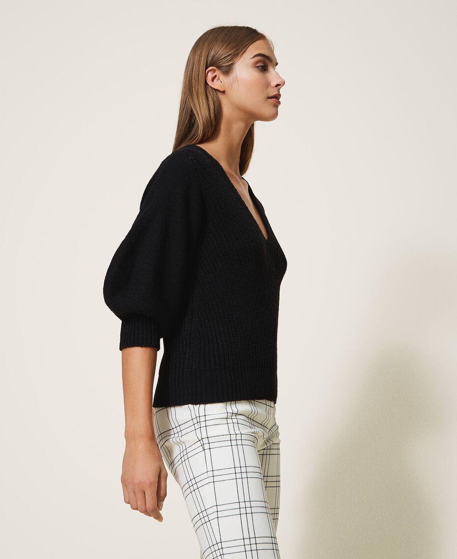 Jersey de lana mixta Blanco Nata Mujer 202MP3162-02