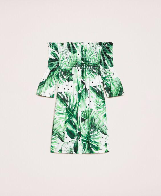 Robe imprimée tropical